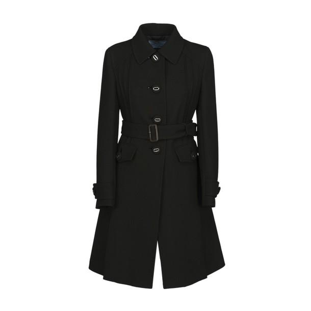 Prada coat wool coat wool black