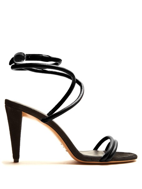 Isabel Marant sandals leather sandals leather black shoes