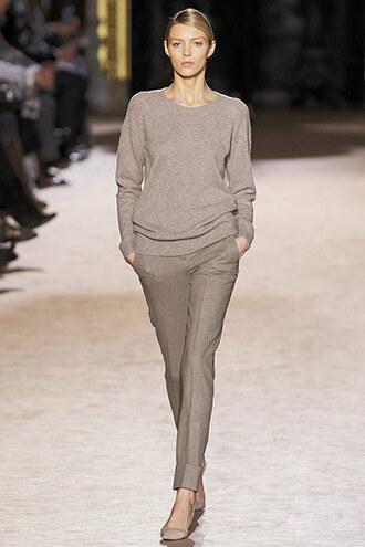 grey pants classic pants straight leg