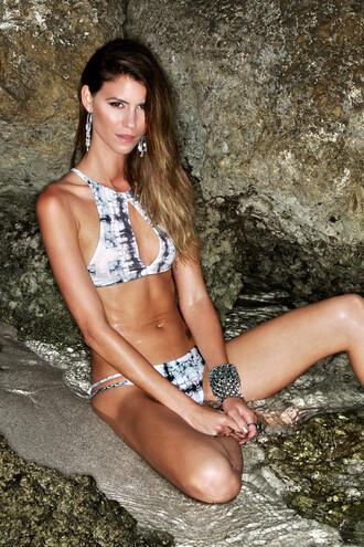 swimwear bikini fashion style tan summer beach bikiniluxe top bikini top halter top racerback soah swimwear