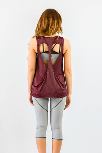 tank top heart burgundy summer comfy sportswear cool cute sporty freevibrationz