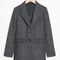 & other stories | wool blend checked blazer | grey