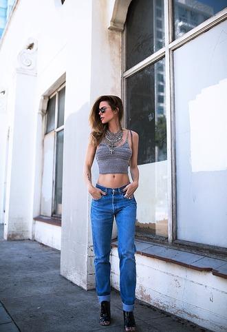native fox blogger sunglasses tank top jewels shoes