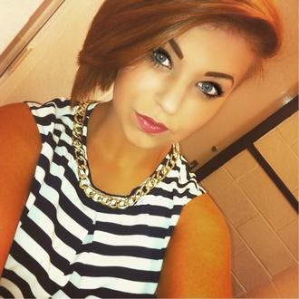 t-shirt tshirt dress striped shirt makeup brushes
