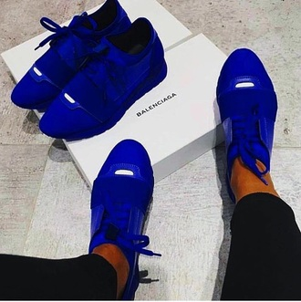 shoes balenciaga blue sneakers high quality
