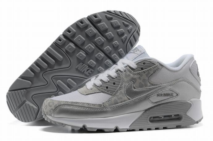 Nike air max 90 leopard white grey on sale [blazersleopardtrainers676]