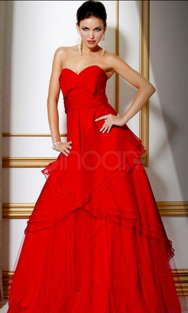 dress sweetheart neckline and natural wasitline floor lenth and sleeveless tulle prom dress