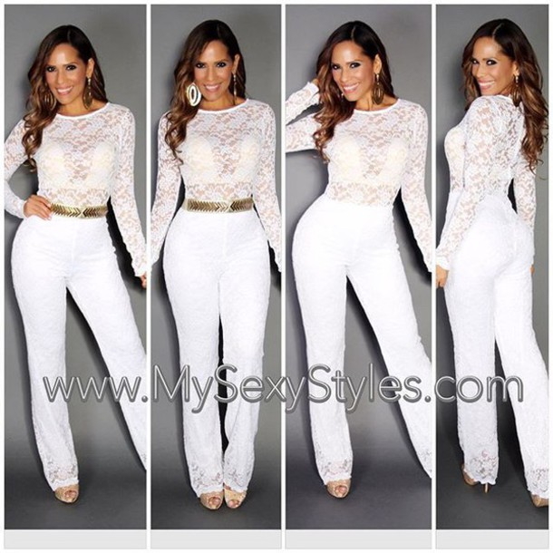 White Jumpsuit With Sleeves Photo Album - Reikian