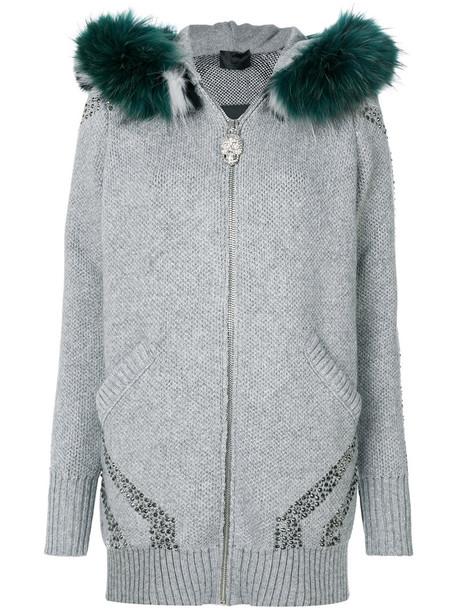 PHILIPP PLEIN coat fur fox women grey