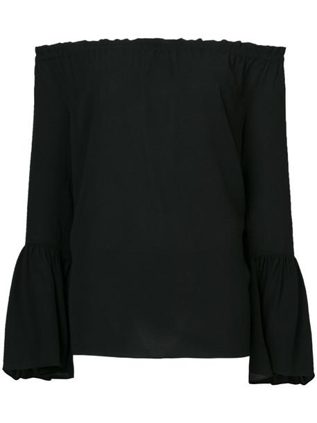 Michael Kors blouse women black silk top