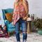 The parker tunic in rocking rust floral