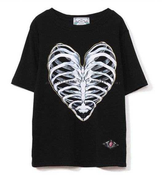 t-shirt cotton neckline t-shirt crop tops rib bones