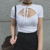 top,itgirl shop,kfashion,korean fashion,fashion,tumblr,southkorean,ulzzang,streetstyle,aesthetic,clothes,apparel,kawaii,cute,women,indie,grunge,pastel,kawaiifashion,pale,style,online,kawaiishop,freeshipping,free,shipping,worldwide,palegoth,soft grunge,softgoth,minimalist,inspiration,outfit,itgirlclothing,crop tops,t-shirt,white crop tops,open hole chest,cotton crop top,cotton t-shirt,short sleeve crop top,bow crop top,bow top