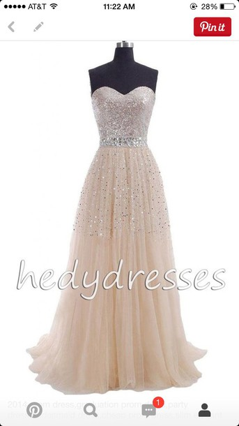 dress champagne prom dress sequin dress