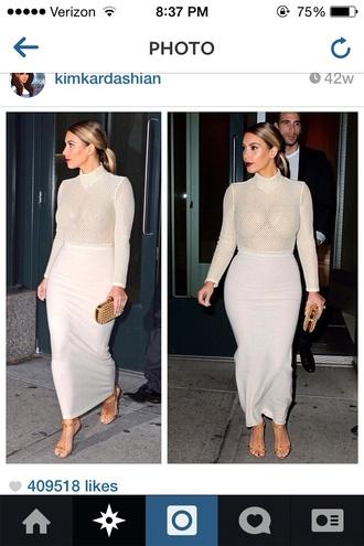kim kardashian mesh pencil skirt