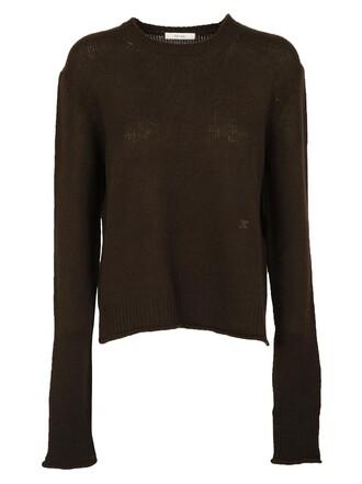 sweater oversized chocolate