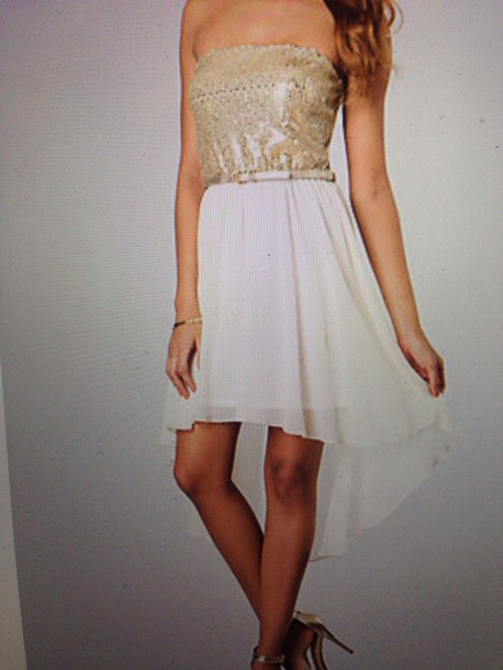 dress gold sequins prom dress