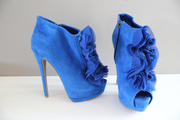 shoes blue pumps super high heels open toes pumps