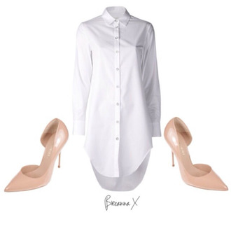 nude heels heels kurt gieger white shirt shirt dress