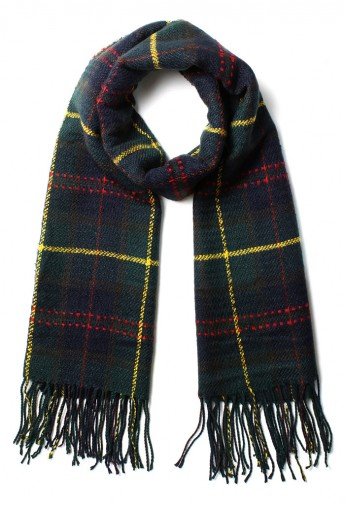 Scotland Check Fringe Scarf in Green - Retro, Indie and Unique Fashion