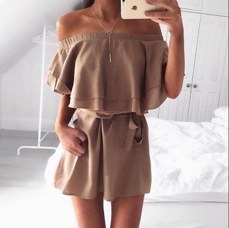 dress tan jumpsuit