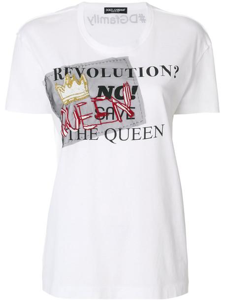 Dolce & Gabbana t-shirt shirt printed t-shirt t-shirt women white cotton top