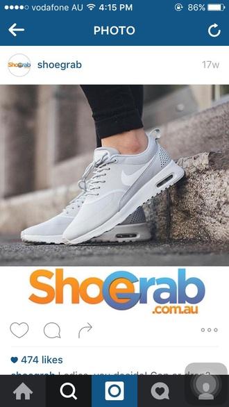 shoes grey white nike nike air nike shoes nikes