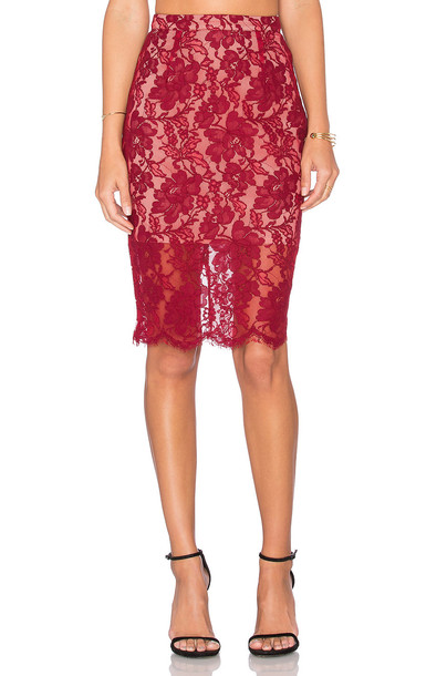 NBD skirt burgundy
