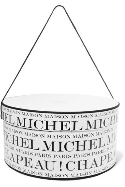 Maison Michel - Printed Hat Box - White