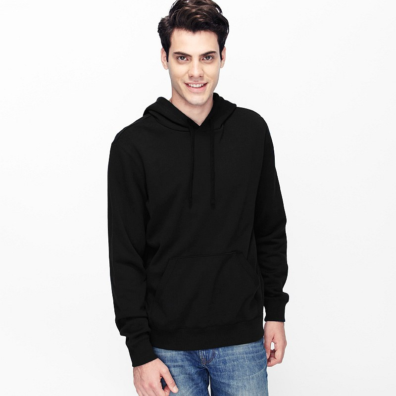 Paolo Plain Pullover Hoodie Men Black SKU – Wholesale VANCL Paolo ...