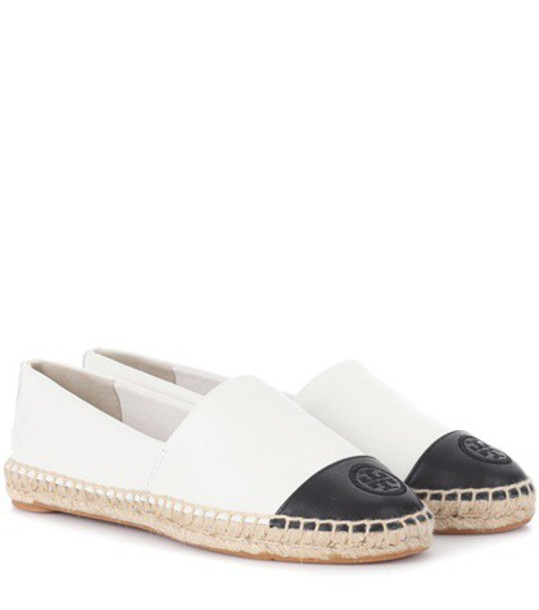 Tory Burch espadrilles leather white shoes