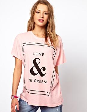 Wildfox | Wildfox Love & Ice Cream T-Shirt at ASOS