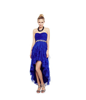 Teeze Me Strapless Corkscrew Hi-Low Dress 					 					 				 			 | Dillard's Mobile