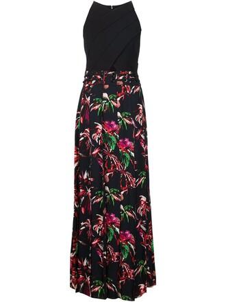 gown cross black dress