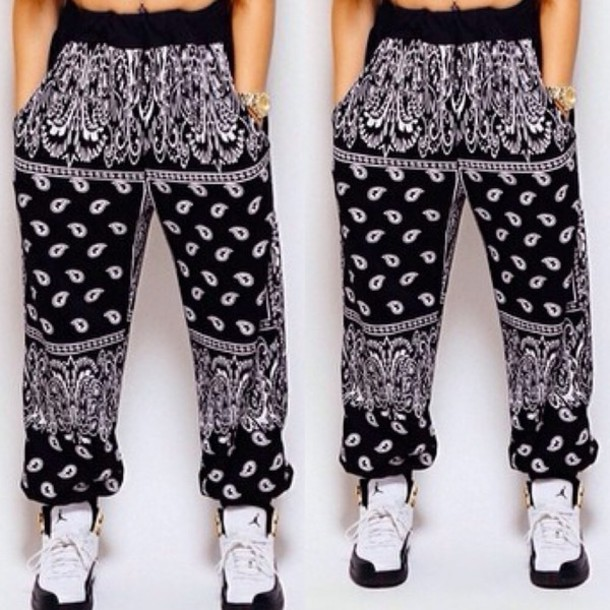 new arrival 307d3 cf822 bandana print joggers jordans pants