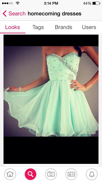 short short dress green light green homecoming homecoming dress homecoming dresses strapless sparkly flowy