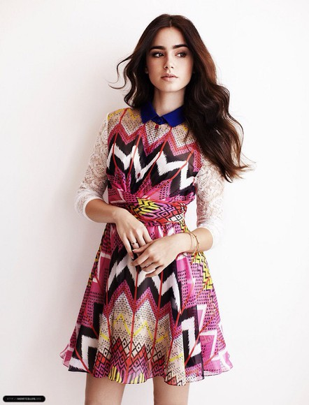 lily collins gown pattern