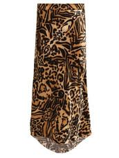 skirt,midi skirt,midi,tiger,tiger print,print,silk,brown,satin