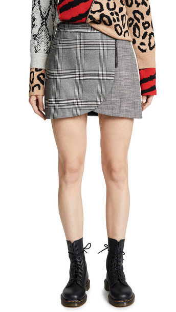 miniskirt black grey skirt