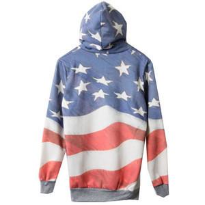 Flag print hooded sweat hoodie [ncsul0003]