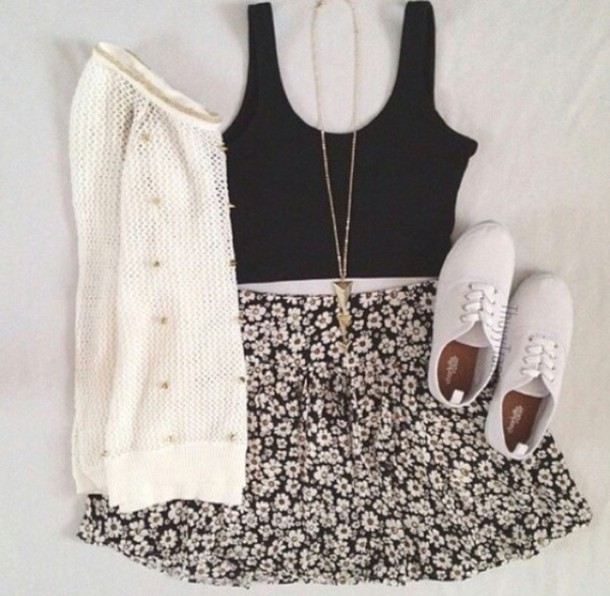skirt summer summer outfits skater skirt floral