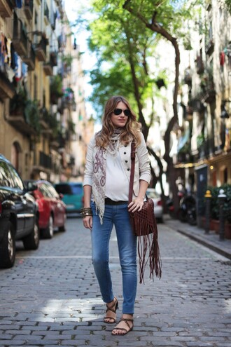 my daily style jacket jeans bag fringed bag