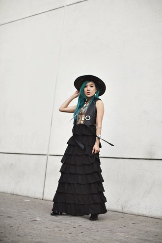 feral creature blogger hat jacket skirt jewels