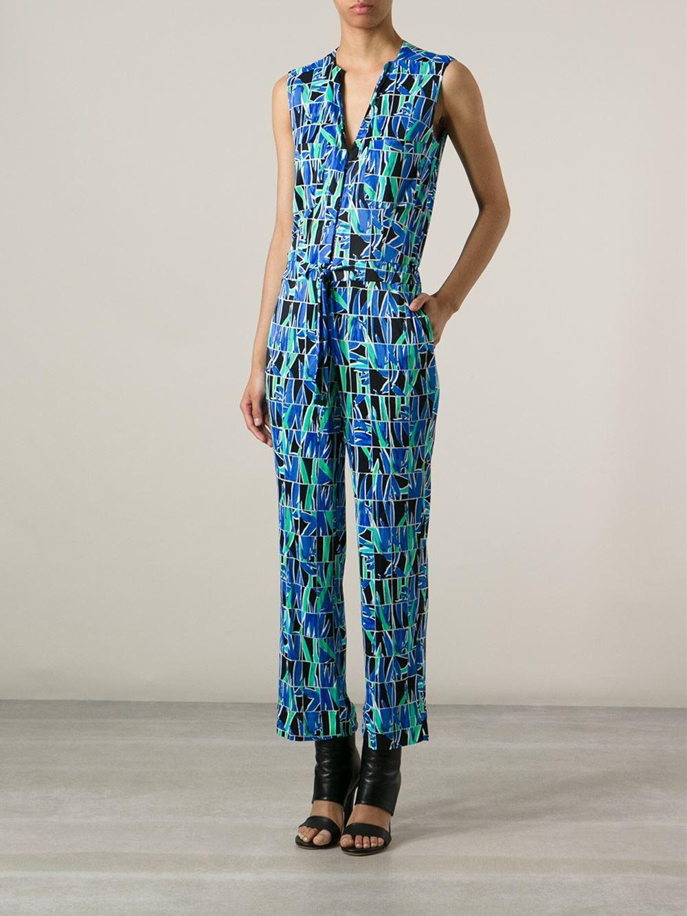 Kenzo Floral Grid Print Jumpsuit - Spazio Pritelli - Farfetch.com