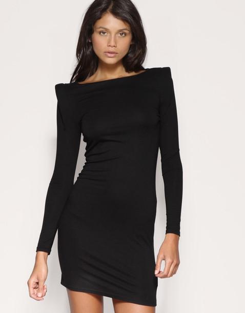 Shoulder padded dresses long sleeve re re