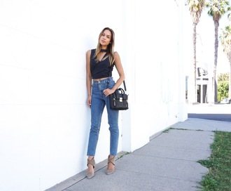 croptopia blogger jeans high waisted jeans nude