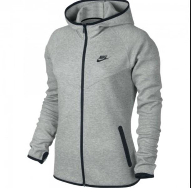 51114010f100 nike grey hoodie zip