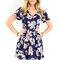 The greatest navy short sleeve floral print dress