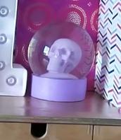 home accessory,purple,skull,crystal ball