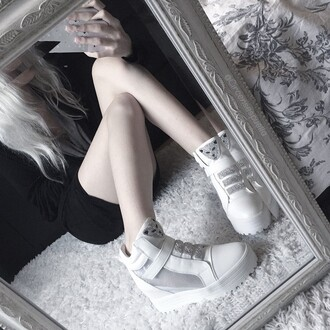 shorts pale kawaii kawaii grunge kawaii dark pale grunge soft grunge elegant lolita silver white shoes platform shoes japanese fashion jpop nymphet nymph sparkle silver and white